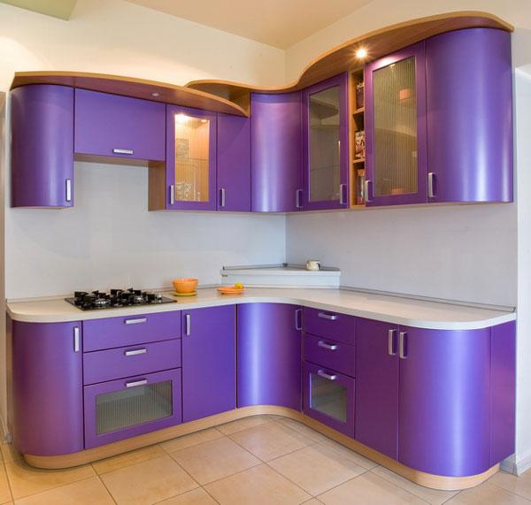 А это уже гнутые кухонные фасады из гибкого МДФ