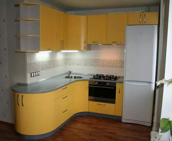 Еще один применения гибкого МДФ в кухонных мебельных фасадах